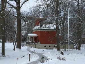 The General Lew Wallace Study & Museum in winter