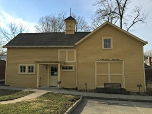 Carriage House Interpretive Center - Tours begin here.