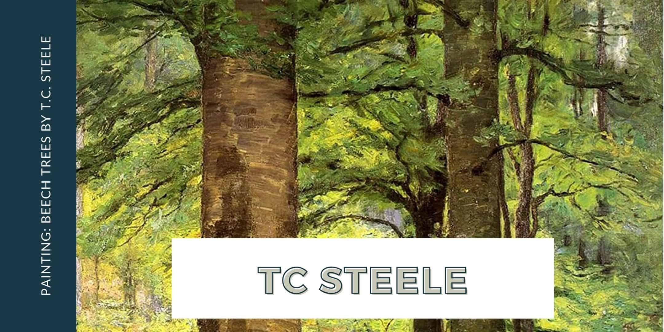 Beech Trees by T.C. Steele